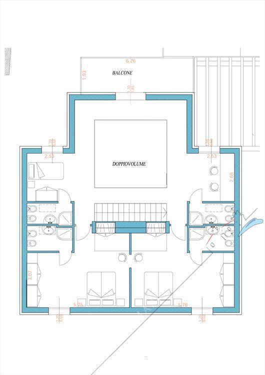 Villa Monroe : Planimetria