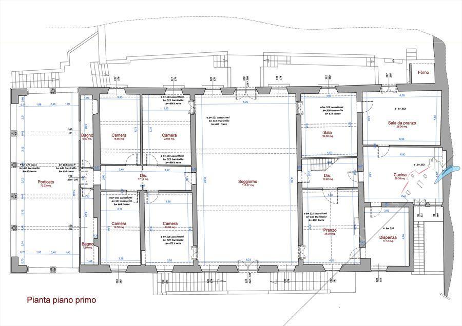 Villa Cipollini : Planimetria