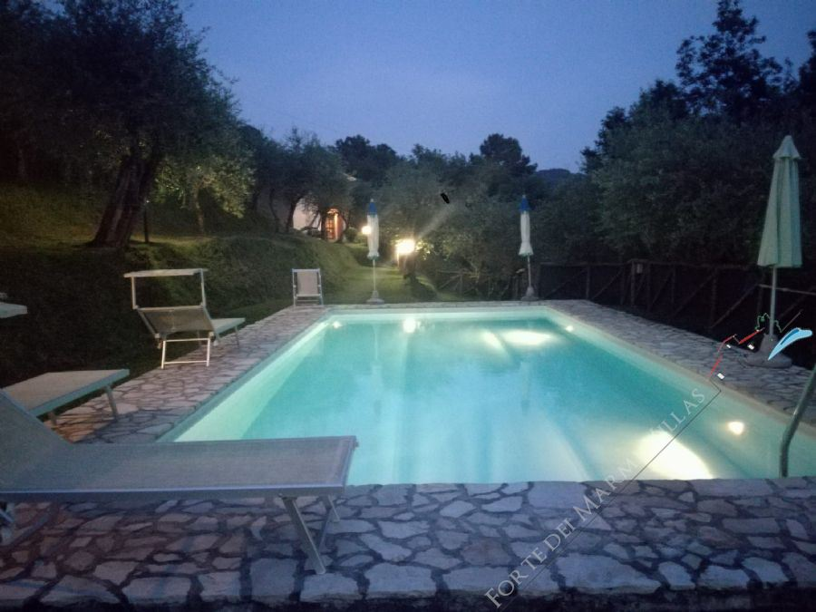 Casale Montemagno detached villa to rent and for sale Camaiore