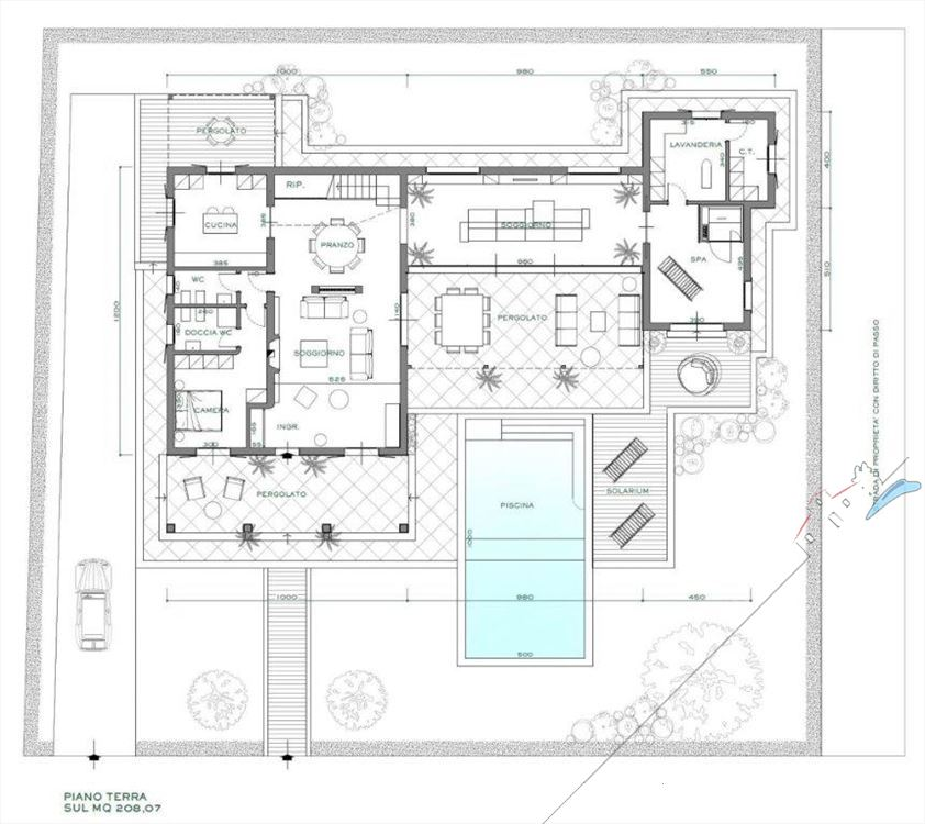 Villa bertelli villa singola con piscina in vendita a for Villa singola moderna