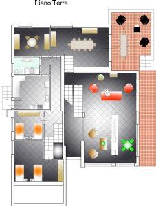 Villa Donatello : Planimetria