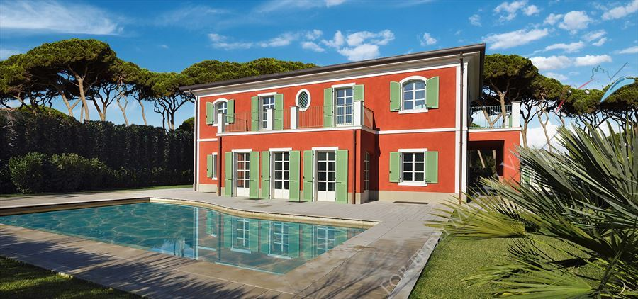 Villa Tiziano - Detached villa For Sale Forte dei Marmi