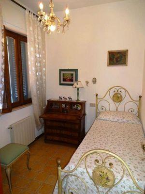 Villa dei Pittori  : спальня с односпальной кроватью