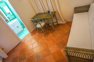 Villa Porto Cervo : спальня с односпальной кроватью
