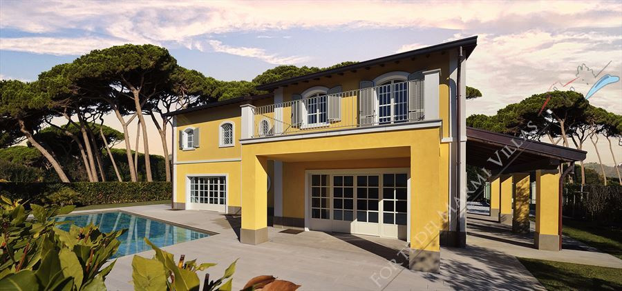 Villa Cimabue detached villa to rent and for sale Forte dei Marmi