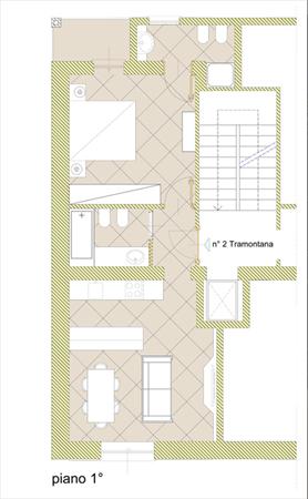 Appartamento Achille : Planimetria