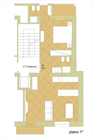 Appartamento Enea : планиметрия