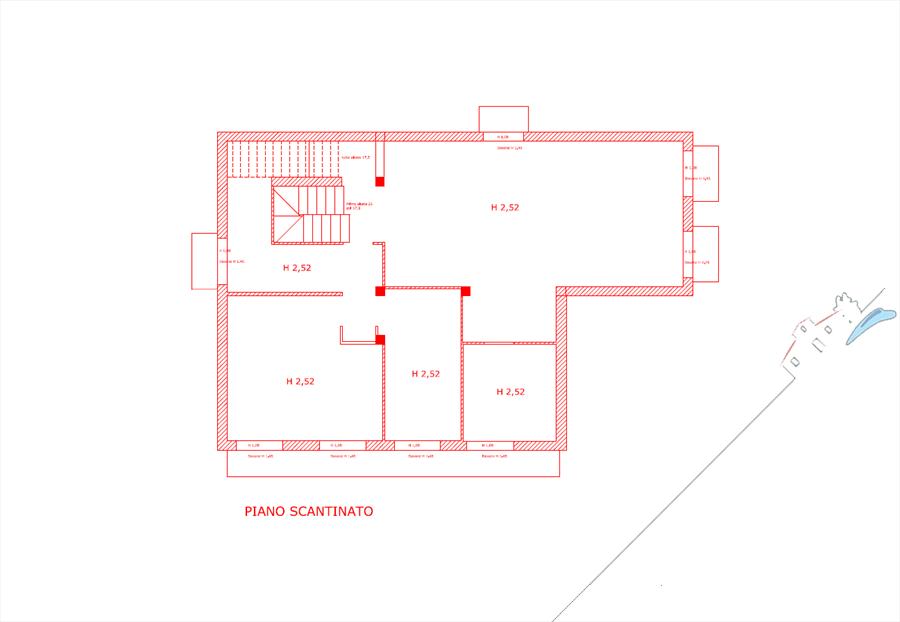 Villa Sogno di Palatina : planimetry