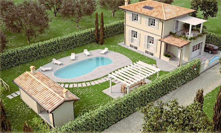 Villa con piscina di nuova costruzione in vendita a camaiore versilia - Vendita villa con piscina genova ...