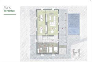Villa Colombo : planimetry
