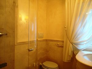 Villa Flora Roma Imperiale : Bathroom with shower