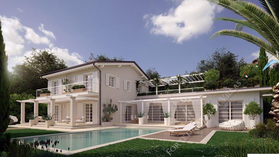 Villa bertelli villa singola con piscina in vendita a for Piani casa moderna collina